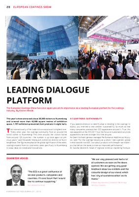 European Coatings 360° » LEADING DIALOGUE PLATFORM