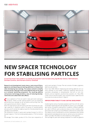 European Coatings 360° » NEW SPACER TECHNOLOGY FOR STABILISING PARTICLES