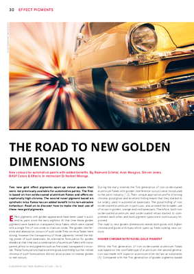 European Coatings 360° » THE ROAD TO NEW GOLDEN DIMENSIONS