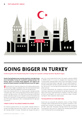 European Coatings 360° » GOING BIGGER IN TURKEY