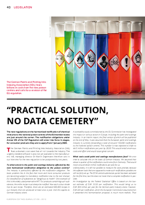 "European Coatings 360° » ""PRACTICAL SOLUTION, NO DATA CEMETERY"""