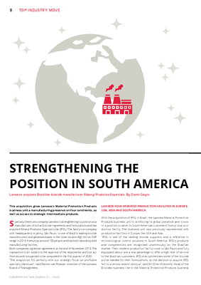 European Coatings 360° » STRENGTHENING THE POSITION IN SOUTH AMERICA