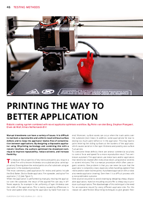 European Coatings 360° » PRINTING THE WAY TO BETTER APPLICATION