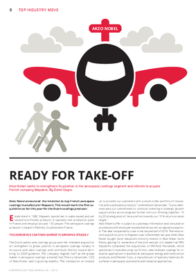 European Coatings 360° » READY FOR TAKE-OFF