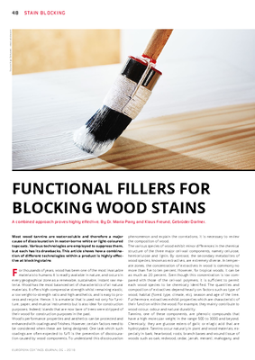 European Coatings 360° » FUNCTIONAL FILLERS FOR BLOCKING WOOD STAINS