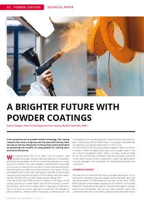 European Coatings 360° » A BRIGHTER FUTURE WITH POWDER COATINGS