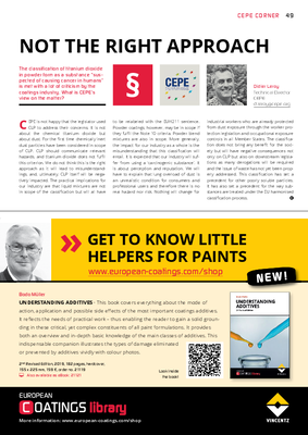 European Coatings 360° » NOT THE RIGHT APPROACH