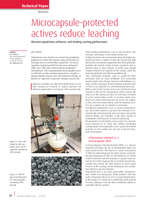 EC 360° » Microcapsule-protected actives reduce leaching