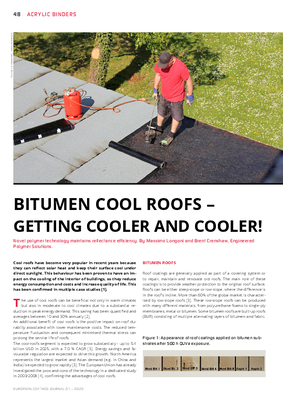 European Coatings 360° » BITUMEN COOL ROOFS - GETTING COOLER AND COOLER!