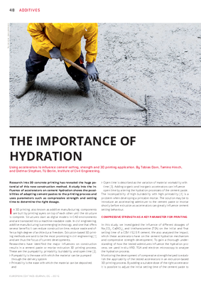 European Coatings 360° » THE IMPORTANCE OF HYDRATION