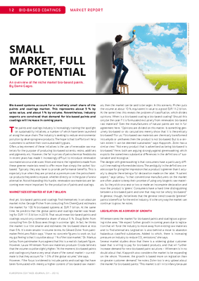 European Coatings 360° » SMALL MARKET, FULL OF POTENTIAL